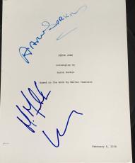 "Aaron Sorkin Michael Fassbender Cast Signed Autograph ""steve Jobs"" Movie Script"