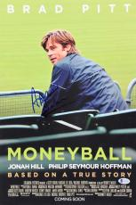 Aaron Sorkin Moneyball Signed 12x18 Mini Movie Poster BAS #E85180