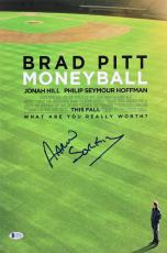 Aaron Sorkin Moneyball Signed 12x18 Mini Movie Poster BAS #E85181