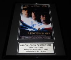 Aaron Sorkin Signed Framed 11x14 A Few Good Men Poster Display AW