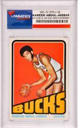 Kareem Abdul-Jabbar Milwaukee Bucks 1972-1973 Topps #100 Card
