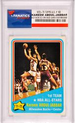 Kareem Abdul-Jabbar Milwaukee Bucks 1972-1973 Topps All-Star #163 Card - Mounted Memories