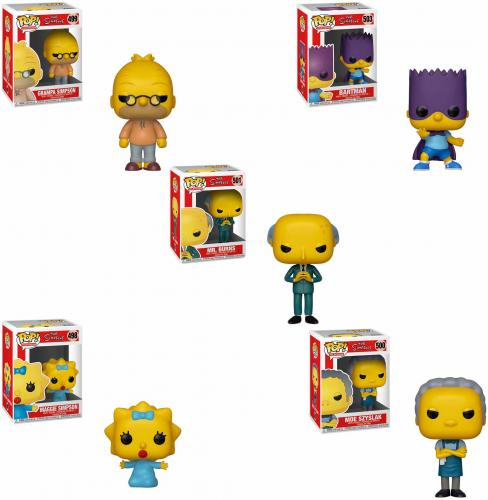 Abe, Bart, Maggie, Moe, and Mr. Burns The Simpsons Funko Pop! Bundle