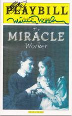 Abigail Breslin Matthew Modine Signed Playbill The Miracle Worker Broadway Coa