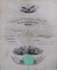ABRAHAM LINCOLN JSA LOA Hand Signed 1862 War Document Autograph Authenticated
