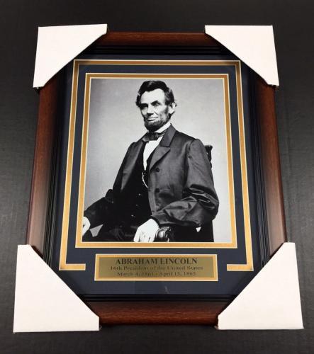 Abraham Lincoln Portrait 16TH UNITED STATES PRESIDENT FRAMED 8x10 PHOTO #1
