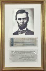 Abraham Lincoln Signed Autographed Personal Bank Check 1857 Beckett BAS