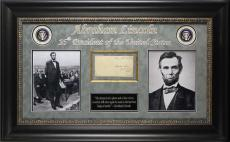 Abraham Lincoln Signed & Framed 1847-1849 Free Frank BAS #A04954