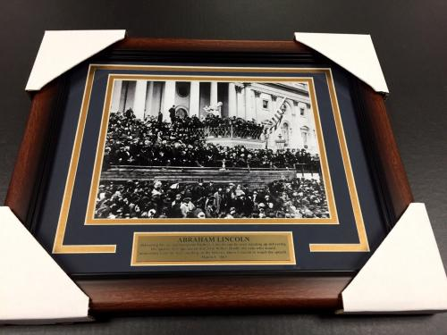 Abraham Lincoln's second inaugural address US PRESIDENT FRAMED 8x10 PHOTO #2