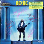 AC/DC (5) Angus, Malcom Band Signed Who Made Who Album Flat BAS #A10260