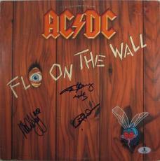 AC/DC acdc Autographed Signed Album LP Certified Authentic Beckett BAS COA