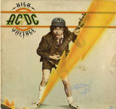 AC/DC Angus Young AC DC ACDC Signed High Voltage Album Vinyl LP AFTAL UACC RD