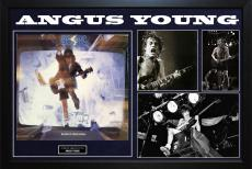 AC/DC Angus Young Autographed Blow Up Your Video Album LP Custom Framed Display