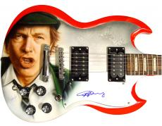 Ac/Dc Angus Young Autographed Signed Airbrushed Guitar