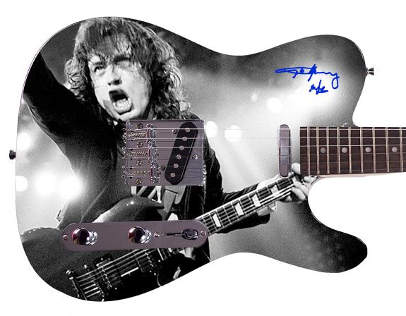 AC/DC Angus Young Facsimile Signature  Custom Graphics Guitar