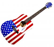 AC/DC Angus Young Autographed Signed USA Acoustic Guitar & Proof