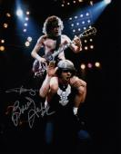 Ac/dc Angus Young & Brian Johnson Signed 11x14 Photo Jsa Loa Y28674