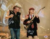 Ac/dc Angus Young & Brian Johnson Signed 11x14 Photo Psa Loa Aa09287