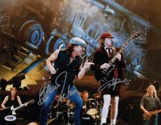 Ac/dc Angus Young & Brian Johnson Signed 11x14 Photo Psa Loa Ad03194