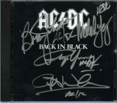 AC/DC Back in Black by 4 Autographed Signed CD Certified Authentic JSA COA