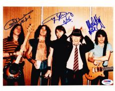 Ac/dc Band Signed 8x10 Photo Angus Young Malcom Young Cliff Williams Psa Loa