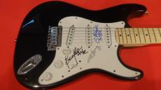 AC/DC Band Signed Autographed Electric Guitar Angus Young Brian Johnson +1 Proof
