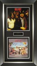 AC/DC Band Signed Dirty Deeds Album Cover Framed