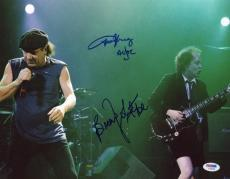 AC/DC BRIAN JOHNSON & ANGUS YOUNG DUAL SIGNED AUTOGRAPHED 11x14 PHOTO PSA/DNA