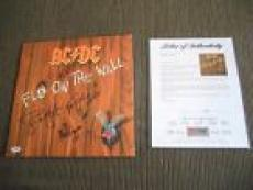 AC/DC Fly On The Wall Angus Malcolm Brian Cliff Simon Signed LP PSA Certified