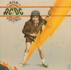 AC/DC Group Signed Autographed High Voltage Album LP Bon Scott +2 PSA/DNA
