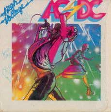 AC/DC Group Signed Autographed High Voltage Album LP Rudd Young 5 Sigs PSA/DNA