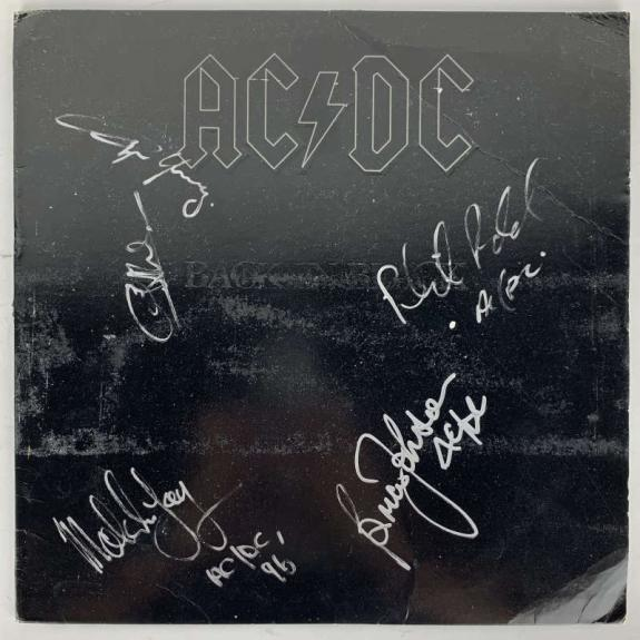 ACDC Group Signed Autographed Rudd Young +3 Back In Black Album JSA