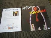AC/DC Powerage Angus Malcolm Young Phil Cliff Signed Autograph LP PSA Certified