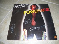 AC/DC Powerage Autographed Signed LP Album Record PSA Guaranteed x4 No Brian