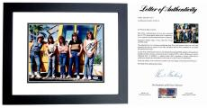 AC/DC Signed - Autographed 11x14 Photo BLACK CUSTOM FRAME signed by Angus Young, Malcolm Young, and Phil Rudd - PSA/DNA FULL Letter of Authenticity