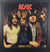 AC/DC Signed Autographed 18x18 Highway To Hell Album Flat Bon Scott BAS Beckett