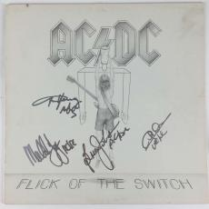 AC/DC Signed Autographed Flick of The Switch Young Johnson +2 PSA/DNA