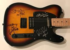 AC/DC signed Fender guitar angus young brian Johnson phil rudd ac dc psa dna