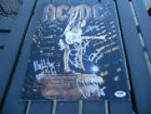 AC/DC Stiff Upper Lip Autographed Signed Tour Program PSA Certified x all 5