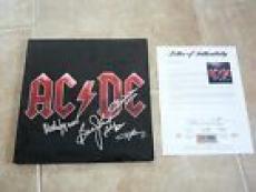 AC/DC x4 Black Ice Signed Autographed LP Album Record PSA Certified