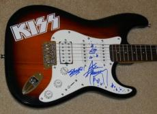 Ace Frehley Autographed Guitar (kiss + Rare Sketch) W/ Proof!