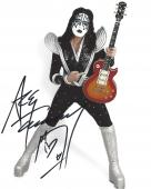 """ACE FREHLEY - Best Known as LEAD GUITARIST and FOUNDING MEMBER of the ROCK BAND """"KISS"""" Signed 8x10 Color Photo"""