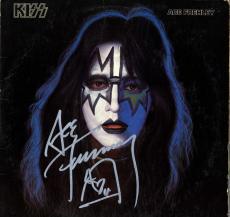 Ace Frehley Kiss Autographed Ace Frehley Album Cover AFTAL UACC RD COA