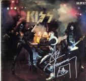 Ace Frehley Kiss Autographed Alive Album Cover AFTAL UACC RD COA
