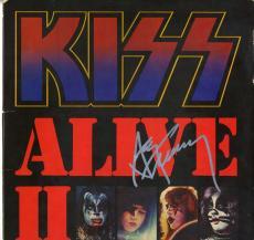 Ace Frehley Kiss Autographed Alive II Album Cover AFTAL UACC RD COA
