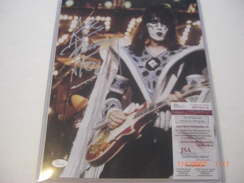 Ace Frehley Kiss Famous Rock Star Jsa/coa Signed 11x14 Photo
