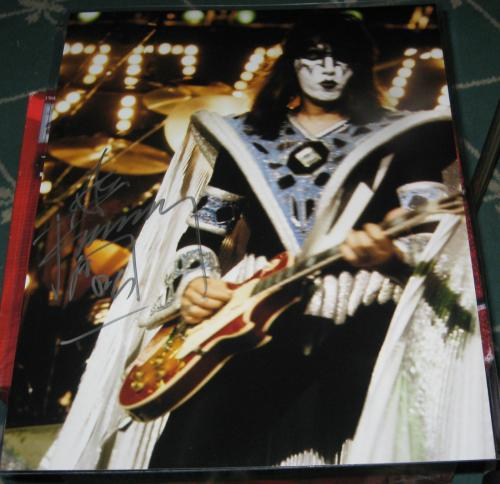 Ace Frehley K.i.s.s. Kiss Rock N Roll Spaceman Signed 11x14 Coa Autographed