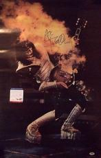 """Ace Frehley """"kiss"""" Music Legend Psa/dna Coa Signed Autographed 21x33 Poster Rare"""