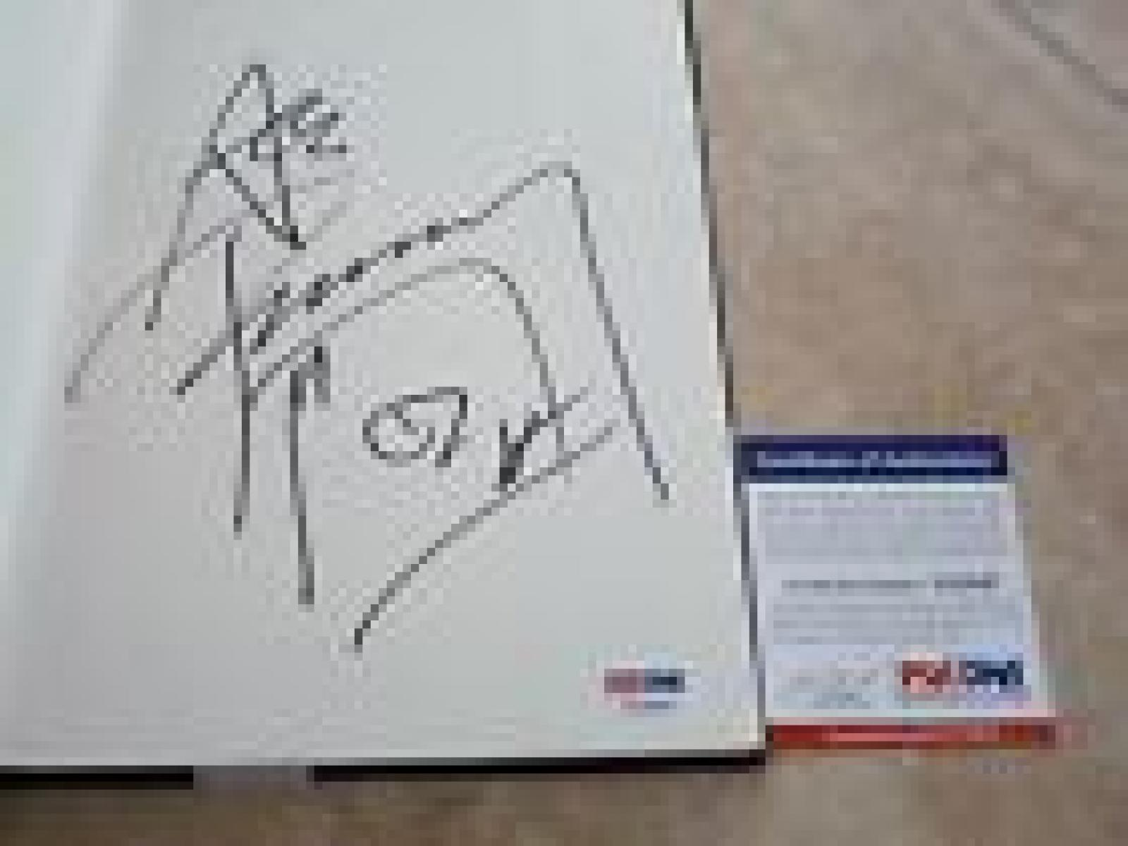 Ace Frehley Kiss No Regrets Signed Autographed Book Psa Certified 2