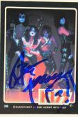 Ace Frehley KISS 'Shock Me' 1978 Autographed Aucoin Signed Card #39 JSA COA